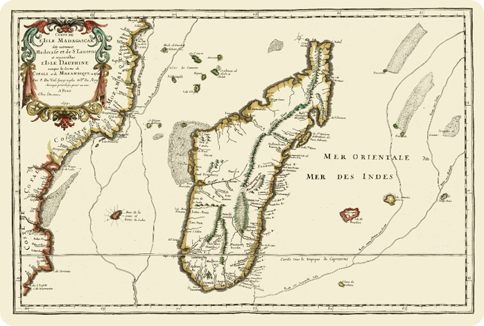 Madagascar old map