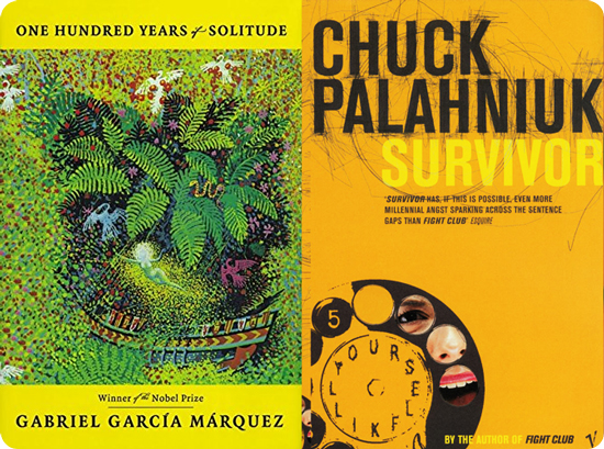Маркес и Паланик - обложки книг