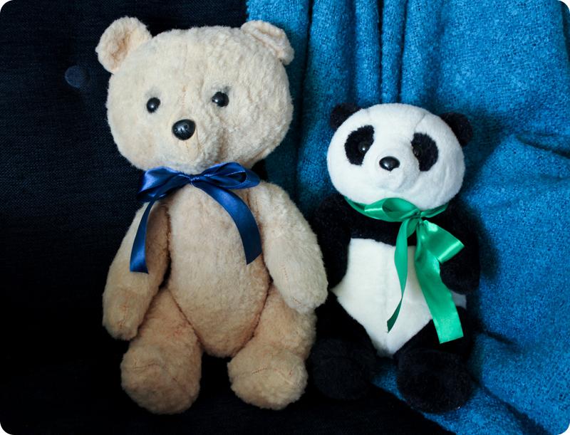 Мишка и панда