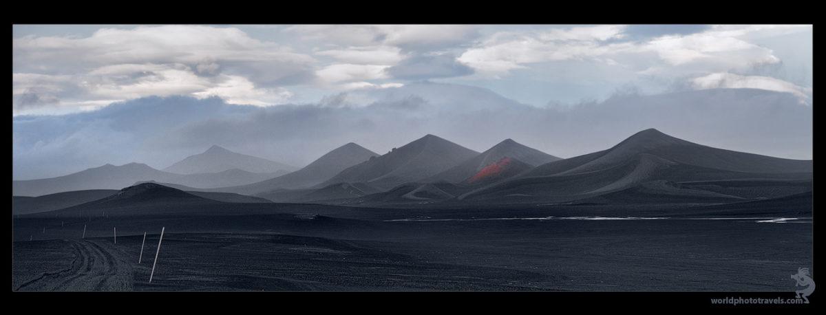 Black desert landscape