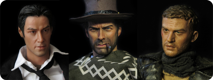 Action figures: Clint, Max & Constantine