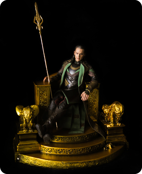 Loki on a throne