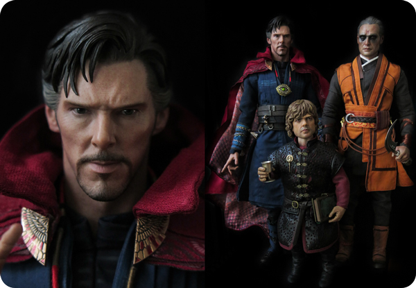 Action figure: Strange, Tyrion and Kaecillius