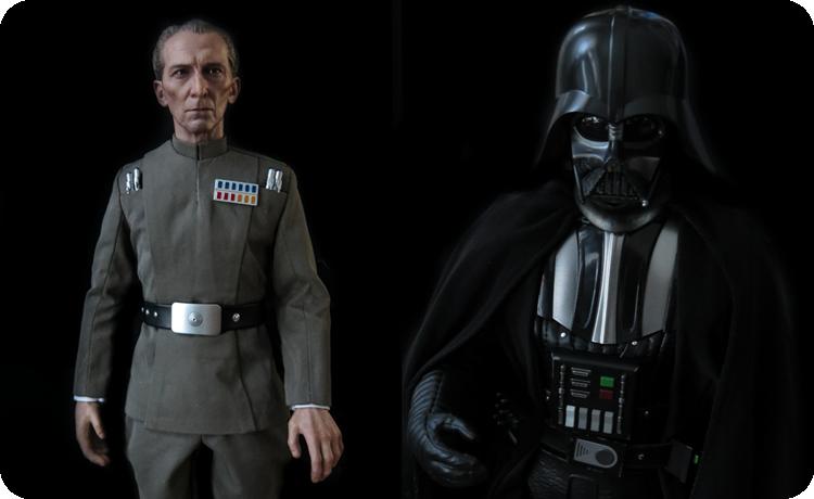 Action figures: Tarkin & Vader