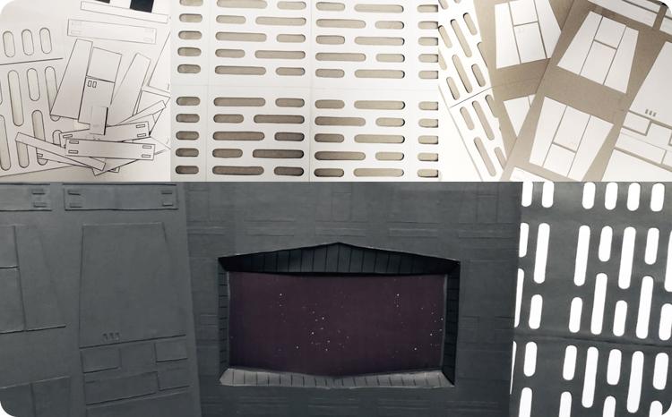 Building Death Star diorama panels
