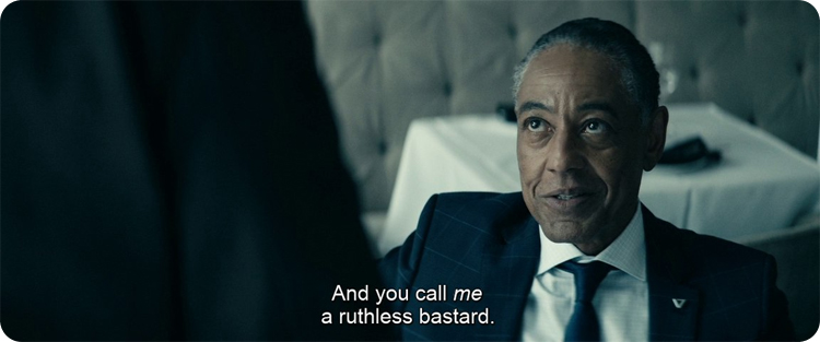 Giancarlo Esposito in The Boys: ruthless bastard