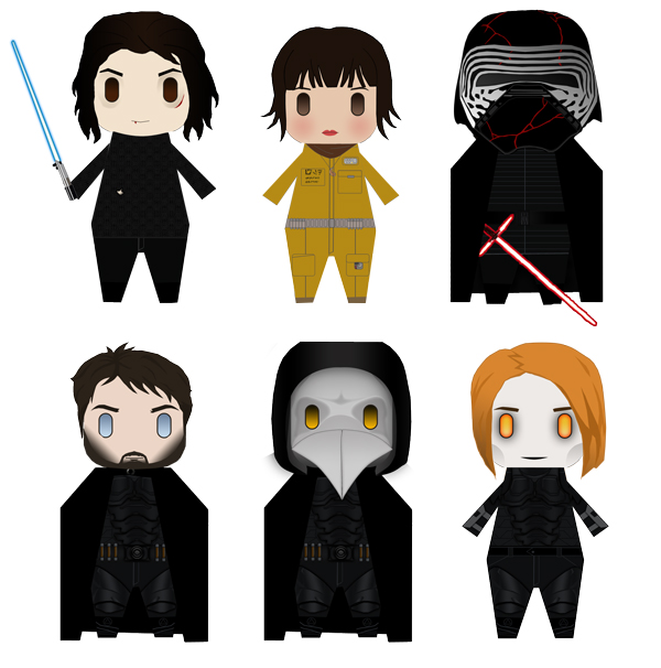 Paperized in August: Rose, Kylo and Plague Doctor