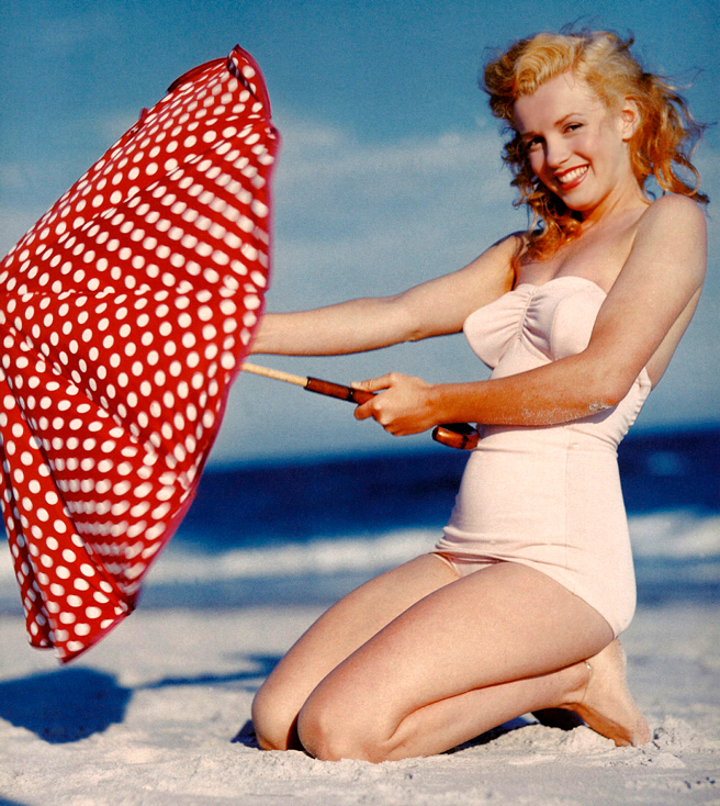 Marilyn Monroe on the beach