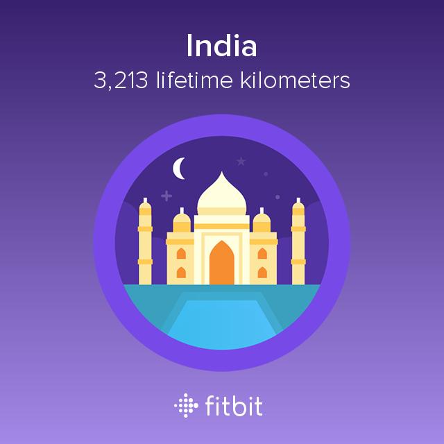Fitbit: India milestone - 3213 kilometres