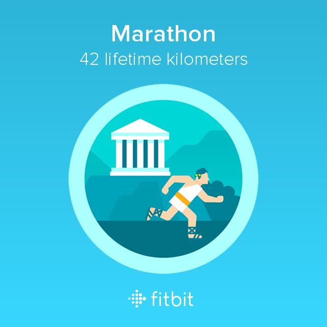 Fitbit: Marathon milestone - 42 kilometres
