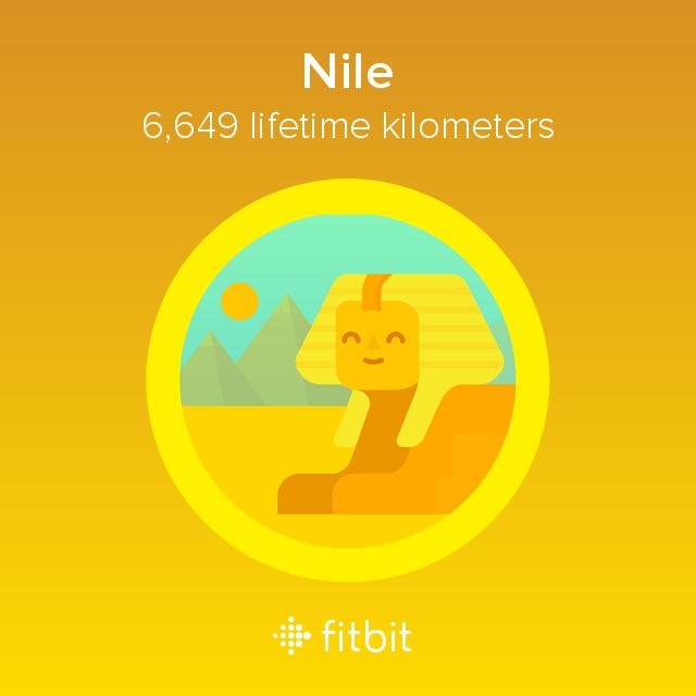 Fitbit: Nile milestone - 6649 kilometres