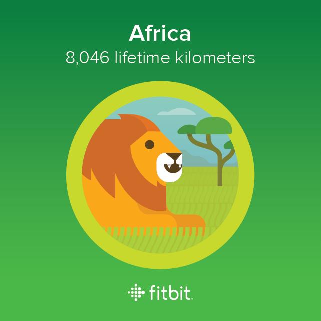 Fitbit: Africa milestone - 8046 kilometres