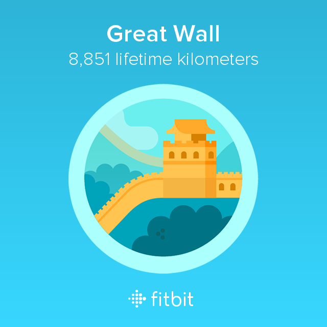 Fitbit: Great Wall milestone - 8851 kilometres