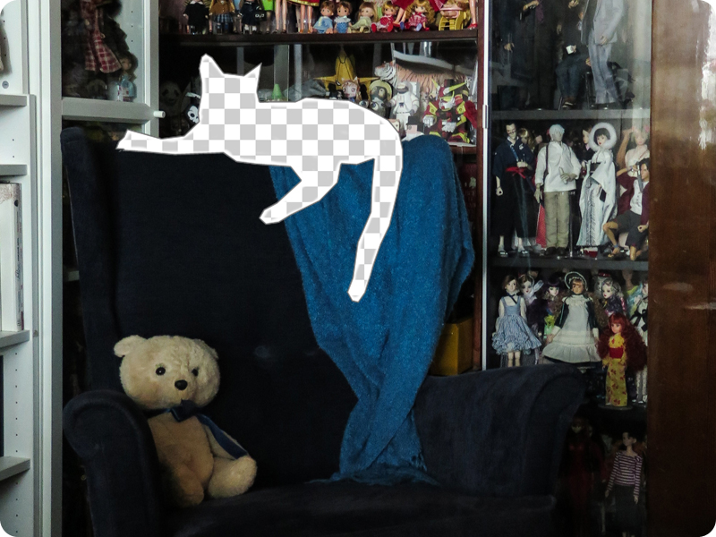 Kitty Negative Space: armchair