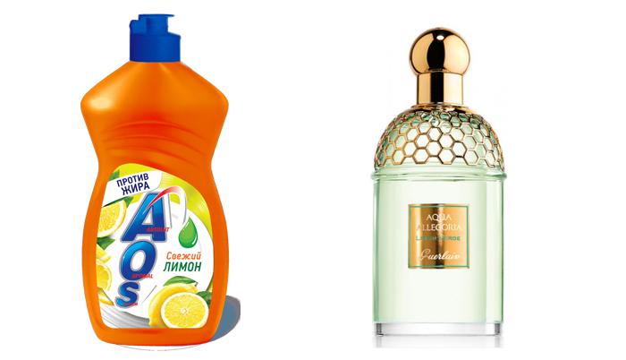 AOS Свежий Лимон и Guerlain Aqua Allegoria Limon Verde