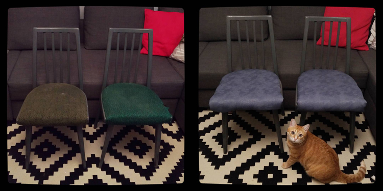 Chairs: before and after