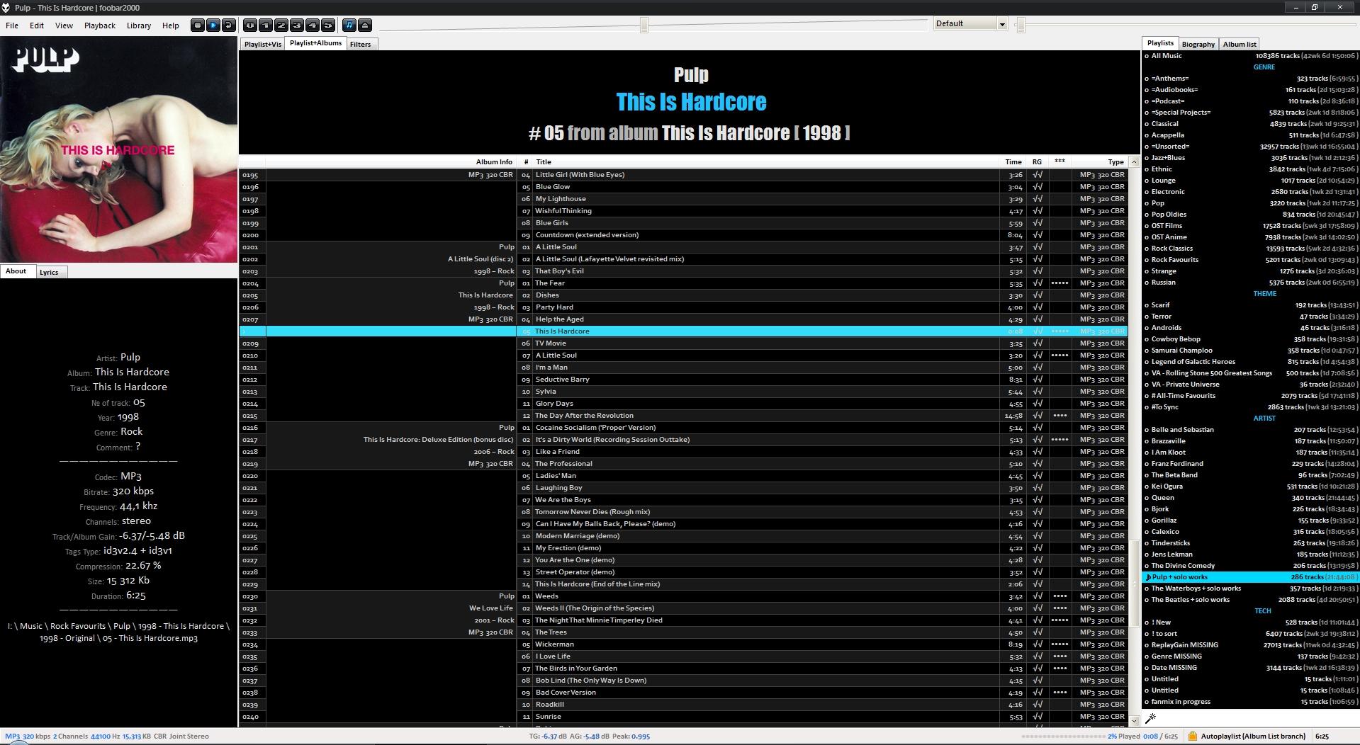 Foobar2000 in 2009-2020