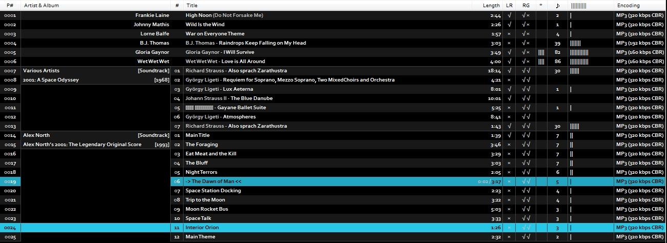 foobar2000: azrael mod by kuzzzma - Basic Mixed playlist without art