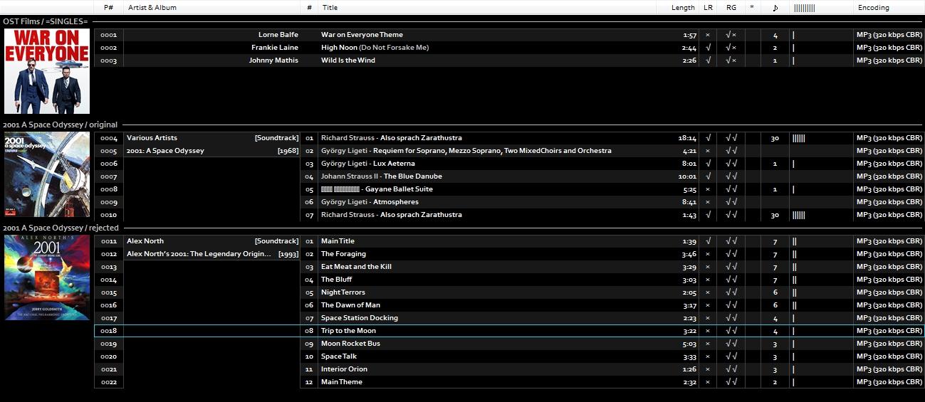 foobar2000: azrael mod by kuzzzma - Basic Mixed playlist with art
