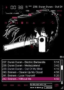 Winamp skin Hellsing Alucard ver.02