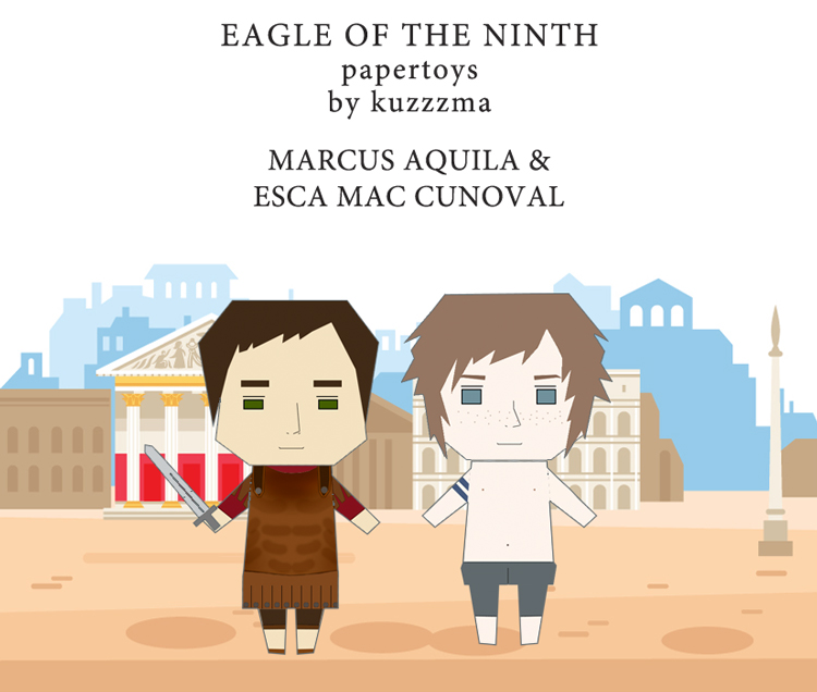 The Eagle of the Ninth paper toys - Marcus and Esca