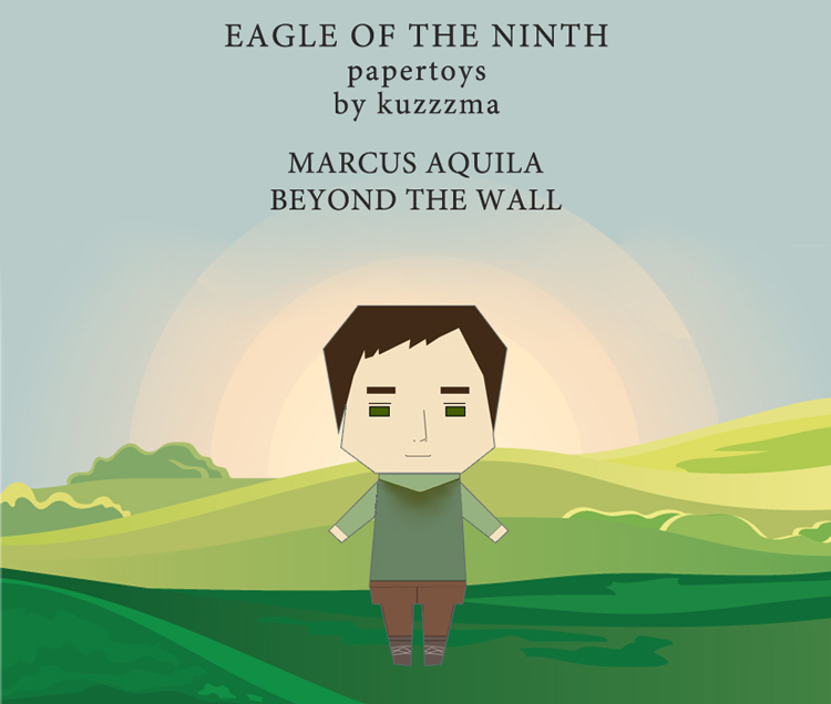 The Eagle of the Ninth paper toys - Marcus beyond the Hardian wall