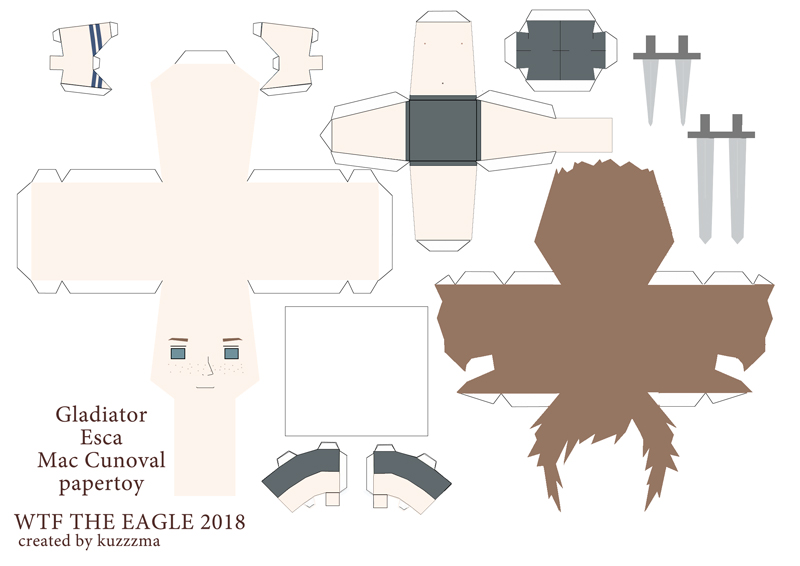 The Eagle of the Ninth paper toys - Gladiator Esca