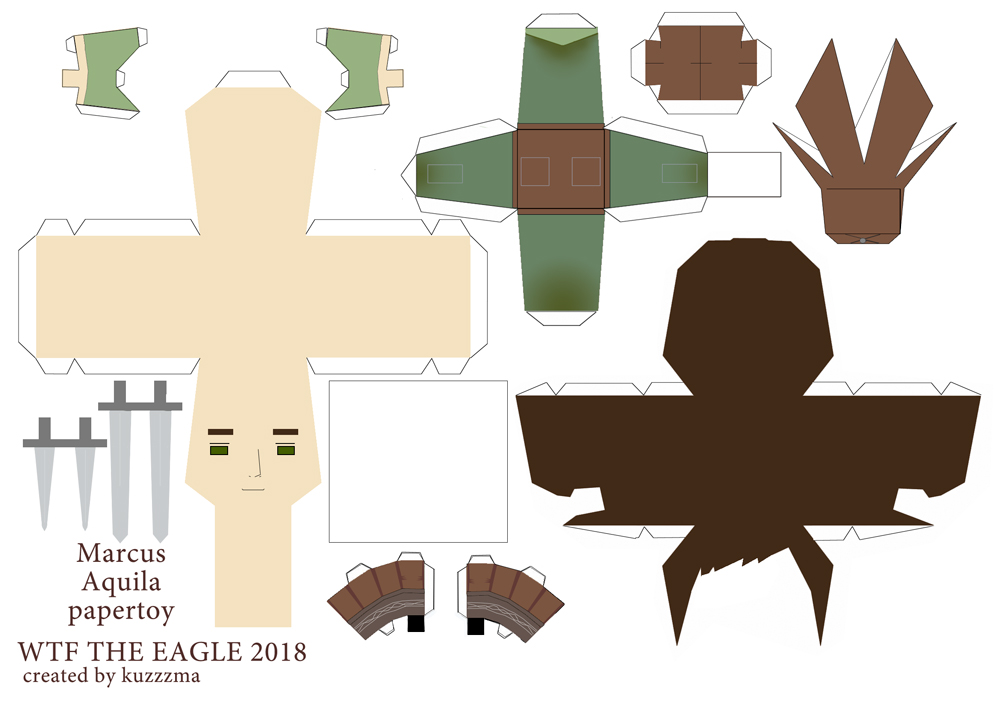 The Eagle of the Ninth paper toys - beyond the wall Marcus