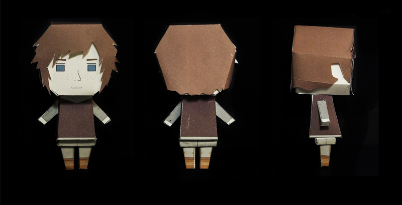 The Eagle of the Ninth paper toys - Free Esca assembled
