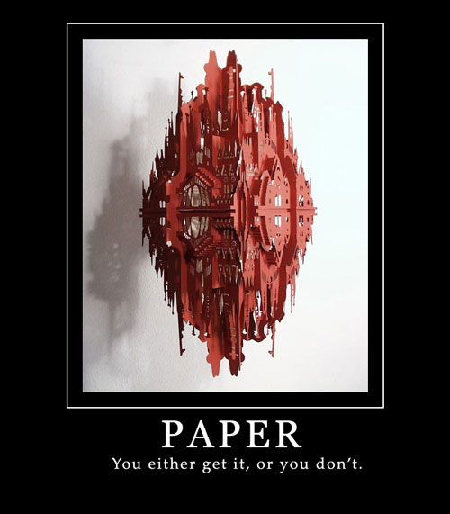 Papercraft: demotivation