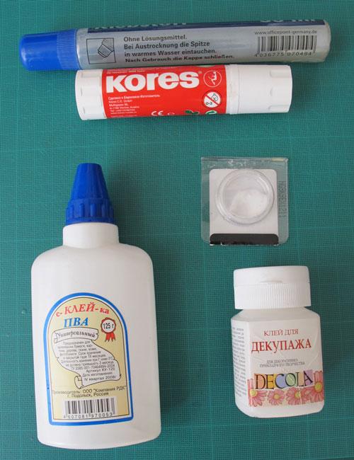 Papercraft: glue