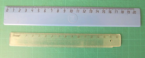 Papercraft: rulers
