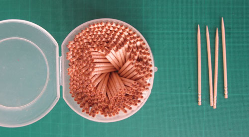 Papercraft: toothpicks