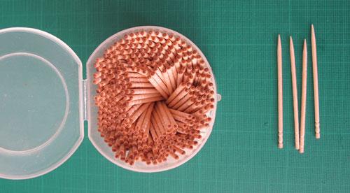 Papercraft: toothpicks