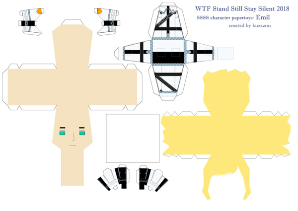 paper toy pattern preview