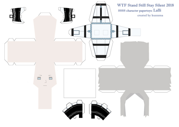 Lalli Hotakainen paper toy pattern preview