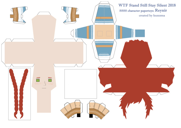 Reynir Arnason paper toy pattern preview