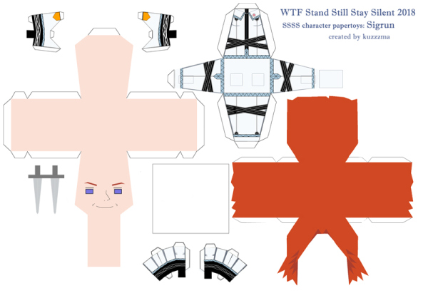 Sigrun Eide paper toy pattern preview