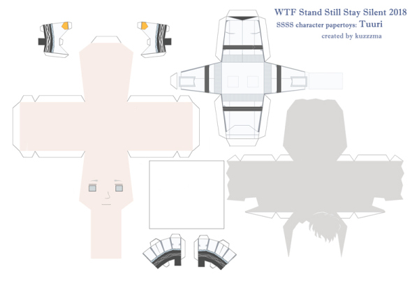 Tuuri Hotakainen paper toy pattern preview