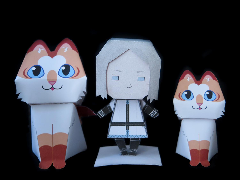 Kitty papertoys comparison