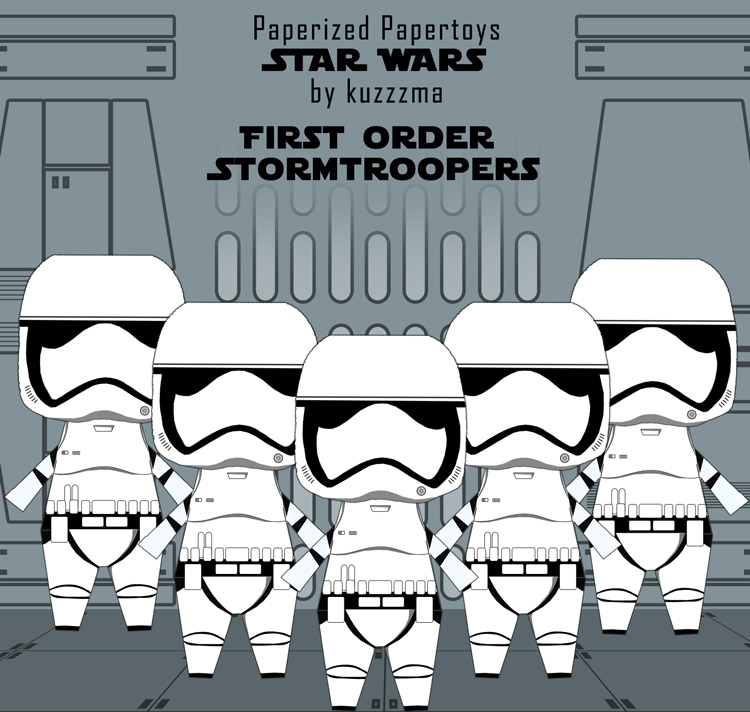 Paperized Star Wars paper toy - First Order Stormtroopers preview