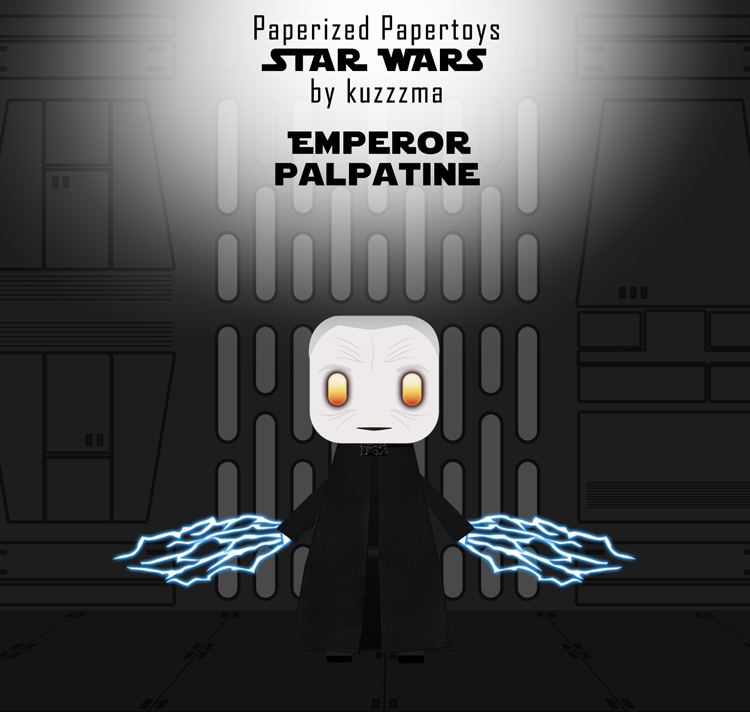 Paperized Star Wars paper toy - Emperor Palpatine preview