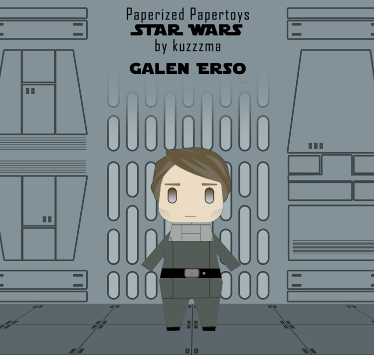 Paperized Star Wars paper toy - Galen Erso
