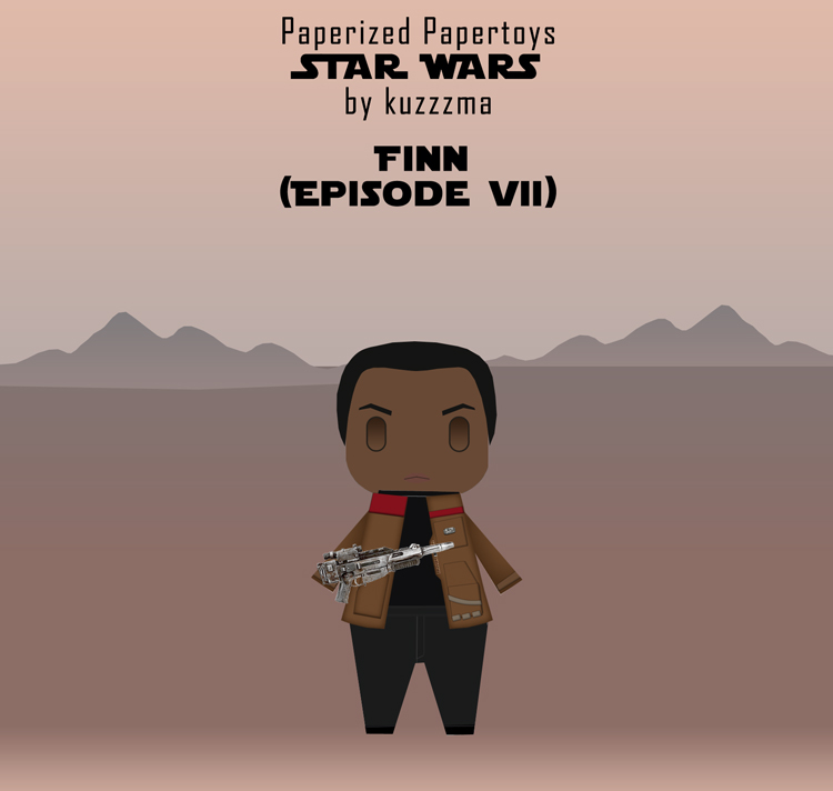 Paperized Star Wars paper toy - Finn (Episode VII)