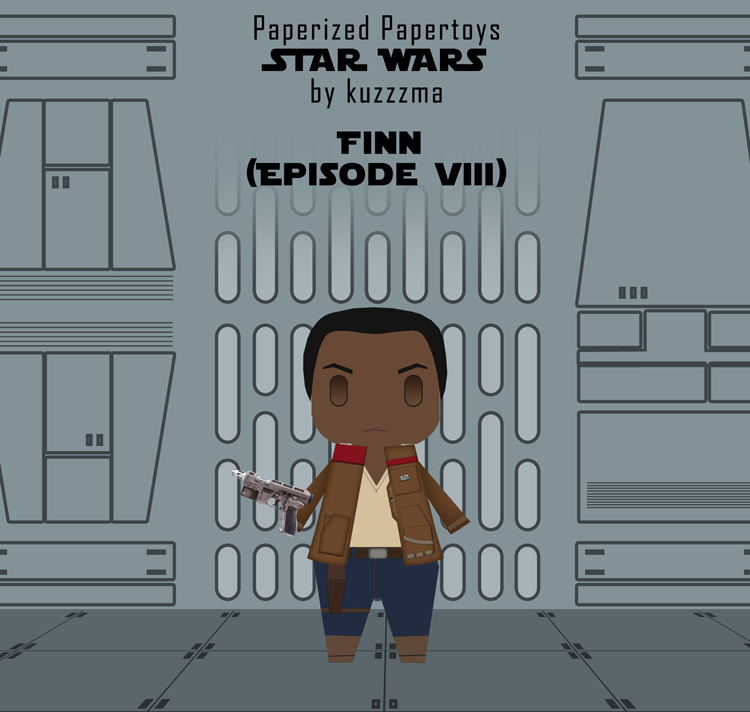 Paperized Star Wars paper toy - Finn (Episode VIII) preview