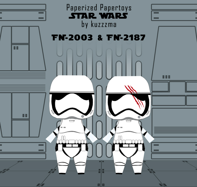 Paperized Star Wars paper toy - Finn and Slip preview