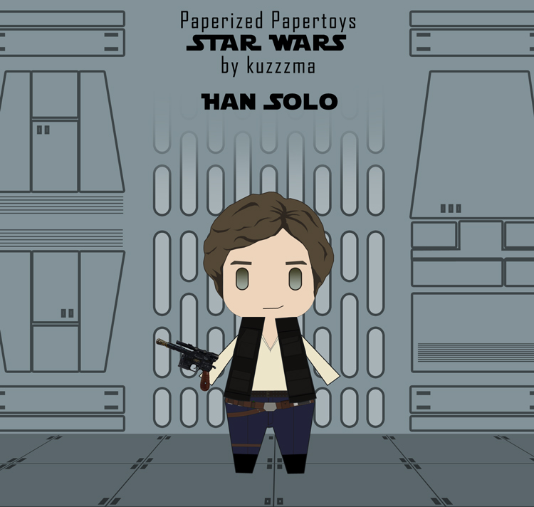 Paperized Star Wars paper toy - Han Solo preview