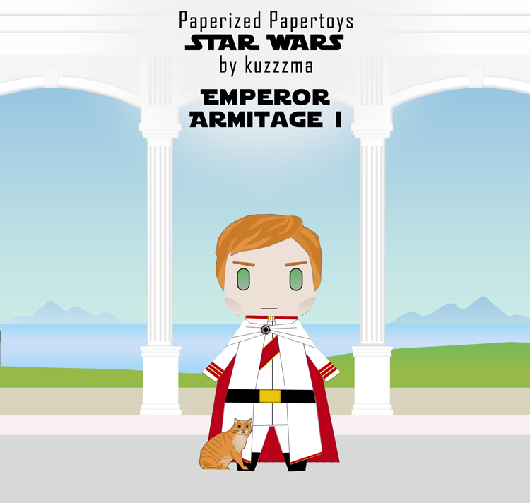 Paperized Star Wars paper toy - Emperor Hux & Millie