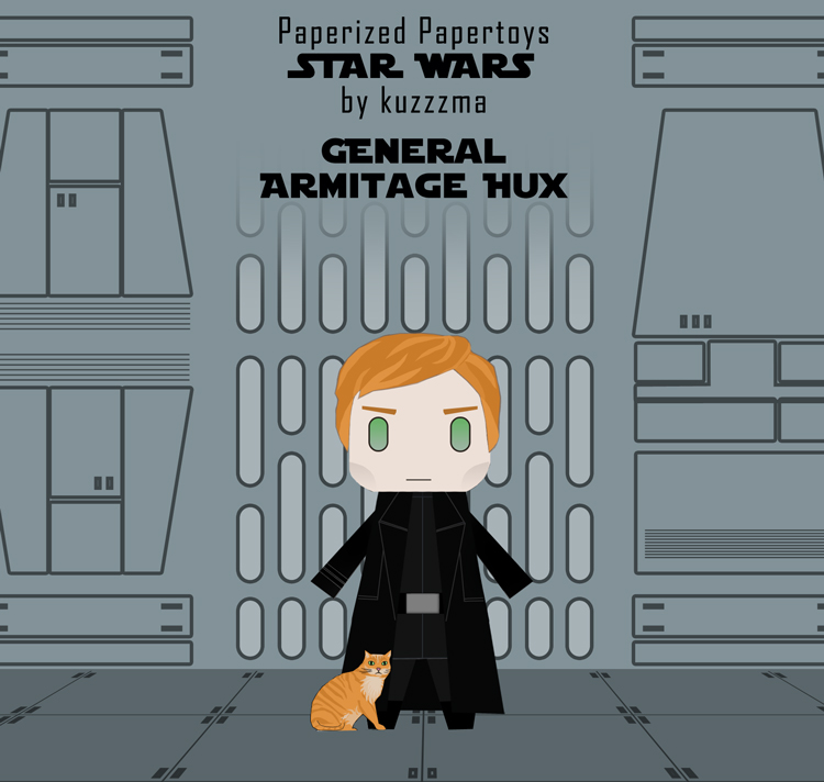 Paperized Star Wars paper toy - General Hux & Millie