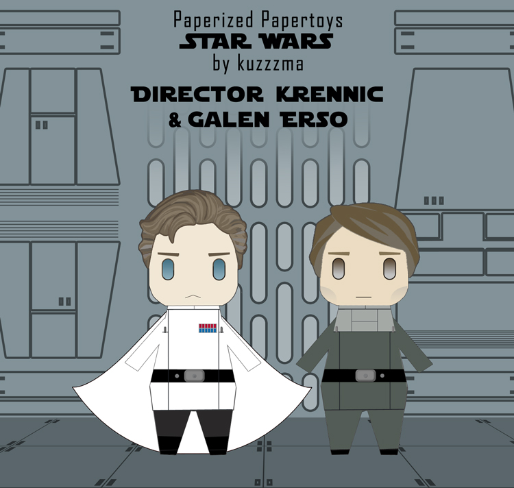Paperized Star Wars paper toy - Director Krennic & Galen Erso